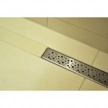 Douchedrain RVS Dots 130x7x6.7cm