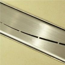 Douchedrain RVS Wave 130x7x6.7cm