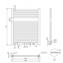 Handdoekradiator Antraciet 77 x 60 cm