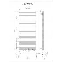Handdoekradiator Antraciet 120x 60 cm