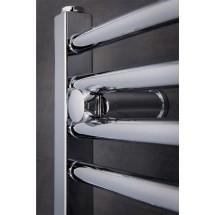Gebogen Handdoekradiator Chroom 80 x 60 cm