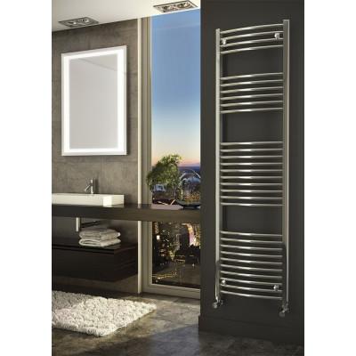 Gebogen Handdoekradiator Chroom 100 x 40 cm