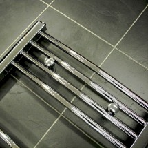 Gebogen Handdoekradiator Chroom 120 x 60 cm
