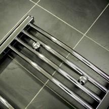 Gebogen Handdoekradiator Chroom 180 x 50 cm