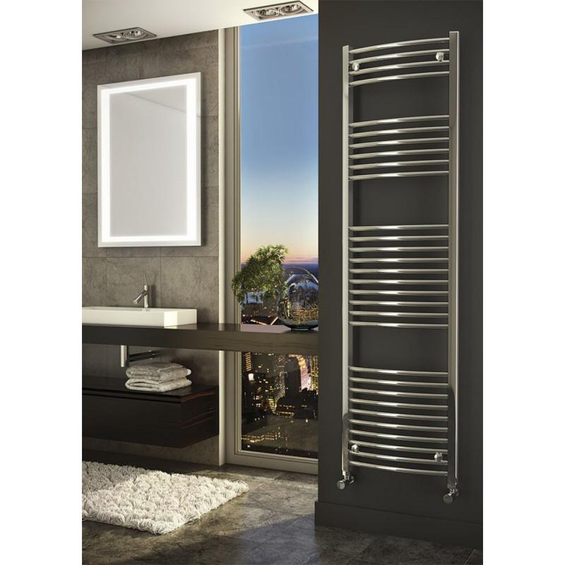 Gebogen Handdoekradiator Chroom 180 x 60 cm