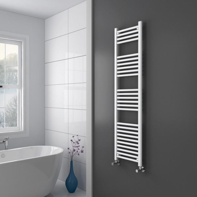 Handdoekradiator Wit 180 x 50 cm. Witte Handdoekradiatoren. Badkamer.