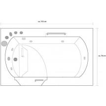 Seniorenbad Ante 153 x 76 x 64 CM - Whirlpool