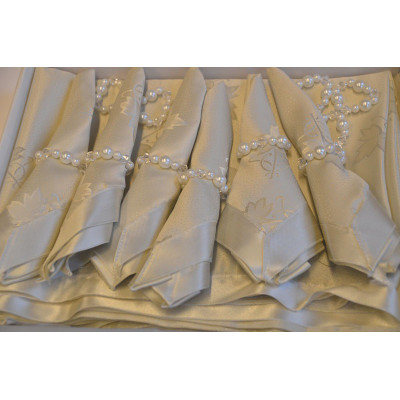 Tafelkleed Creme 160x220cm