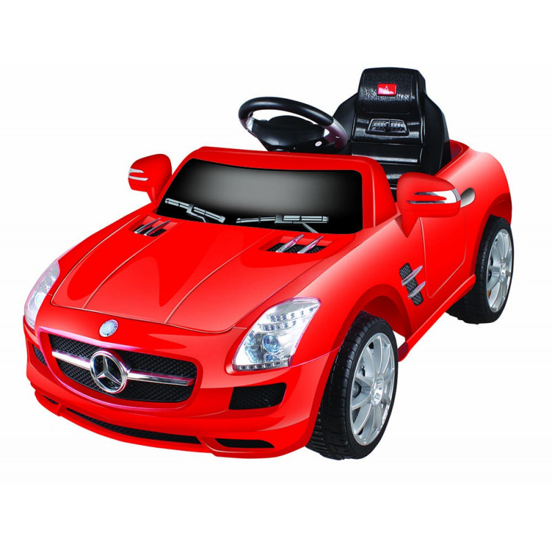 elektrische speelgoed kinderauto accu auto mercedes sls rood. Black Bedroom Furniture Sets. Home Design Ideas