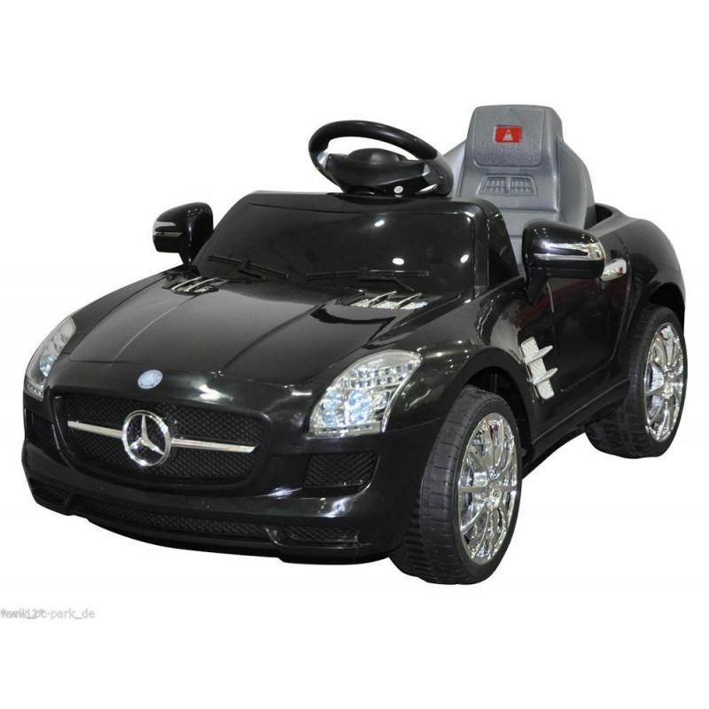 elektrische speelgoed kinderauto accu auto mercedes sls zwart. Black Bedroom Furniture Sets. Home Design Ideas
