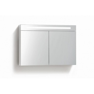 Spiegelkast 120x70cm Hoogglans Wit