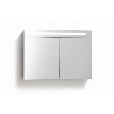 Spiegelkast 80x70cm Hoogglans Wit