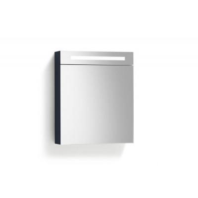 Spiegelkast 58x70cm Hoogglans Antraciet Links