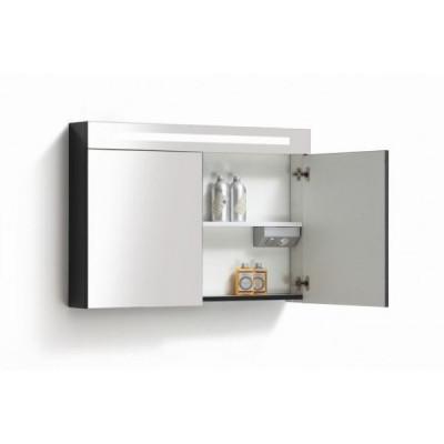 Spiegelkast 90x70cm Hoogglans Antraciet