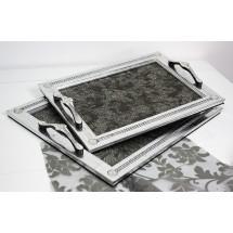 Dienblad 2-Delig Zilver