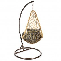 Hangstoel Wicker Kurl Grey