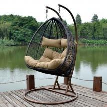 Hangstoel Voor 2 Personen.2 Persoons Hangstoel Duo Complete Wicker Hangstoel