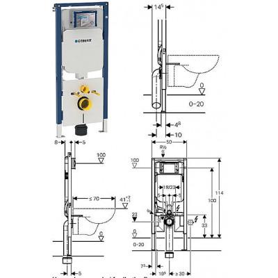 Inbouwreservoir Geberit Duofix UP720 ruimtewinnend 8cm