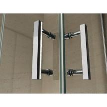 Douchecabine 80x80CM Kwartrond Floor- Helder Glas