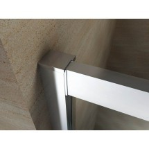 Douchecabine 90x90CM Kwartrond Floor- Helder Glas