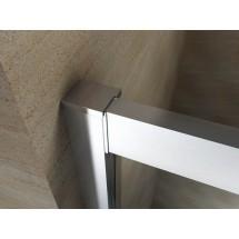 Douchecabine 100x100CM Kwartrond Floor- Helder Glas