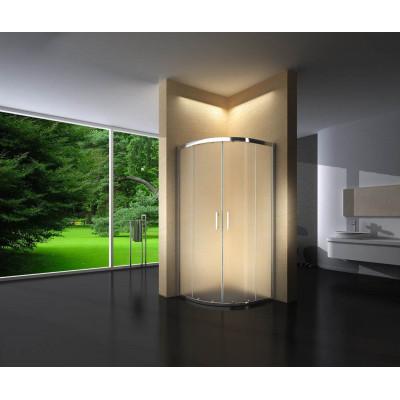 Douchecabine 100X100 Kwartrond Floor- Mat Glas