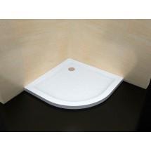 Douchecabine 90x90CM Kwartrond Floor LB- Mat Glas - Lage Douchebak