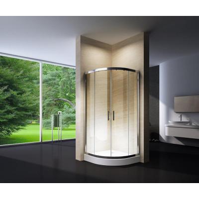 Douchecabine 80X80 Kwartrond Floor HB- Helder Glas