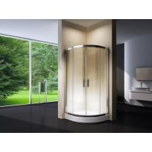 Douchecabine 100X100CM Kwartrond Floor HB- Mat Glas