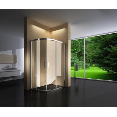 Douchecabine 120X90 Kwartrond Floor- Helder Glas