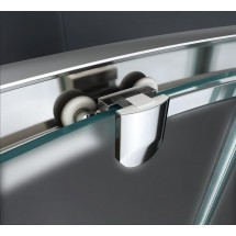 Douchecabine 120x90CM Kwartrond Floor- Mat Glas
