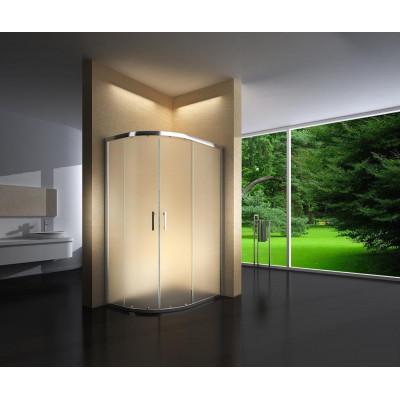 Douchecabine 120X90 Kwartrond Floor- Mat Glas