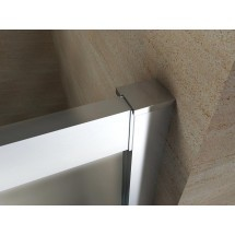 Douchecabine 120x90CM Kwartrond Floor - Lage Bak- Mat Glas