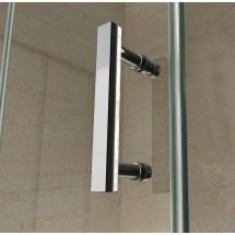 Douchecabine 120x90CM Kwartrond Floor - Hoge DoucheBak- Helder Glas