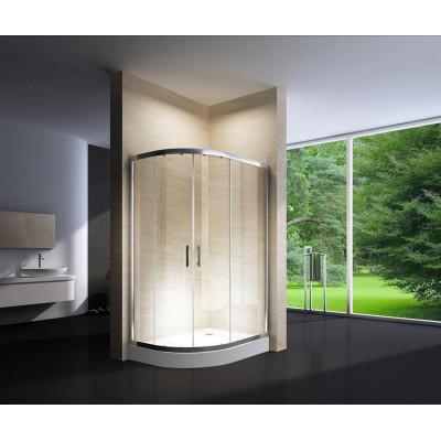Douchecabine 120x90CM Kwartrond Floor HB- Helder Glas