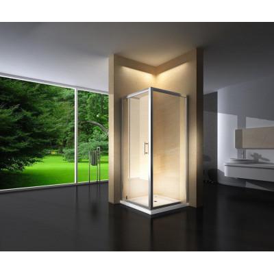 Douchecabine 90x90CM Vierkant Marjo LB- Helder Glas