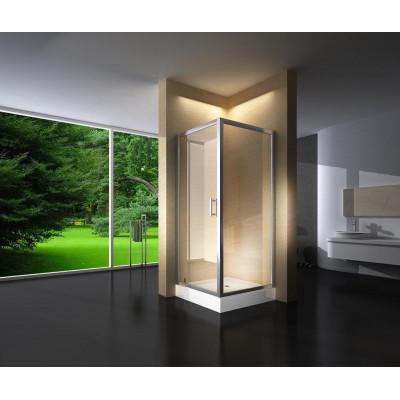 Douchecabine 90x90CM Vierkant Marjo HB- Helder Glas