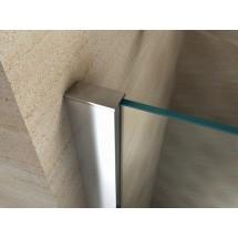 Douchecabine 100x100CM Vierkant Auro LB - Helder Glas - Lage Douchebak