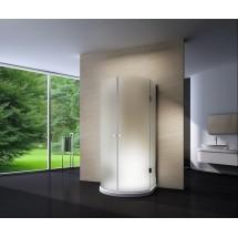 Douchecabine 90x90CM Halfrond Heidi LB- Mat Glas