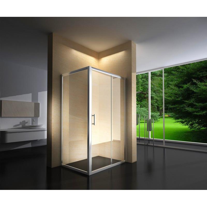 Douchecabine 100x80CM Rechhoekig Loebna- Helder Glas