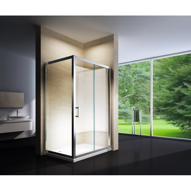Douchecabine 100x80CM Rechhoekig Loebna LB- Helder Glas