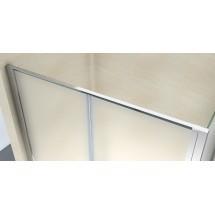 Douchecabine 120x80CM Rechthoekig Argento- Mat Glas