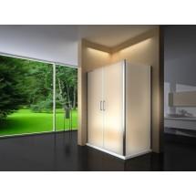 Douchecabine 120x80CM Rechthoekig Argento LB- Mat Glas