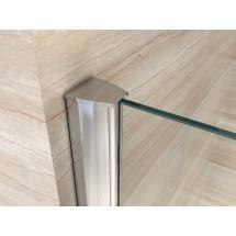 Douchecabine 120x80CM Rechthoekig Nora- Helder Glas