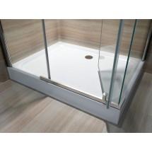 Douchecabine 120x80CM Rechthoekig Nora HB- Helder Glas
