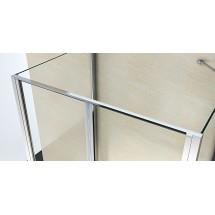 Douchecabine 120x80CM Rechthoekig Idaro- Helder Glas
