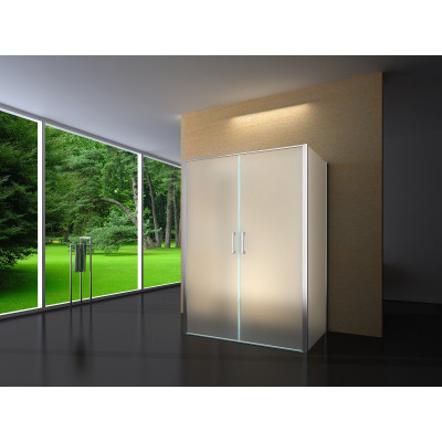 Douchecabine 120X80 Rechthoekig Idaro- Mat Glas