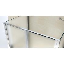 Douchecabine 120x80CM Rechthoekig Idaro LB- Mat Glas