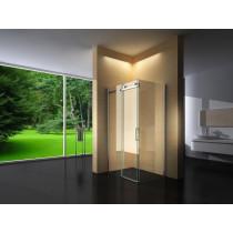 Douchecabine 130x80CM Rechthoekig Vita- Helder Glas