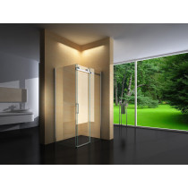 Douchecabine 140x70CM Rechthoekig Vita- Helder Glas